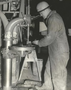 During World War II, Strange toiled as a sheet metal worker at a Seattle shipyard while also managing the yard&#039;s baseball team, the Sea-Tac Destroyers. / David Eskenazi Collection