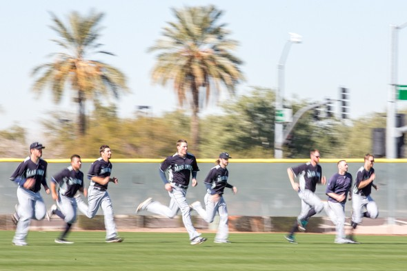 The Seattle Mariners have raced out to a 6-1 Cactus League record, the longest spring training winning streak since 2004. But it means nothing. / Drew McKenzie, Sportspress Northwest