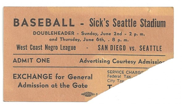 "Ticket to the Steelheads' first game at Sicks' Stadium, against the San Diego Tigers. The ""Steelies"" split the Opening Day doubleheader. / David Eskenazi Collection"