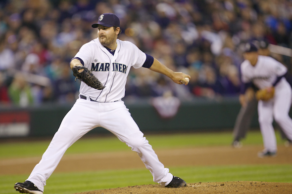 Joe Saunders looked awful in his Seattle debut, but came back with a nice effort -- and a victory -- in his last start. He will get the call Saturday against the Texas Rangers. / Drew Sellers, Sportspress Northwest