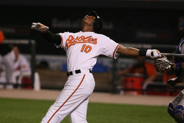 The Mariners traded OF Adam Jones to the Orioles x for Bedars. / Wiki Commons