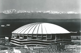 "King County voters passed a $40 million bond issue to fund construction of the Kingdome with the understanding that Seattle would have major league baseball for many years. A lawsuit against the American League contended that the league breached this ""implied contract"" by relocating the Seattle Pilots to Milwaukee. / David Eskenazi Collection"
