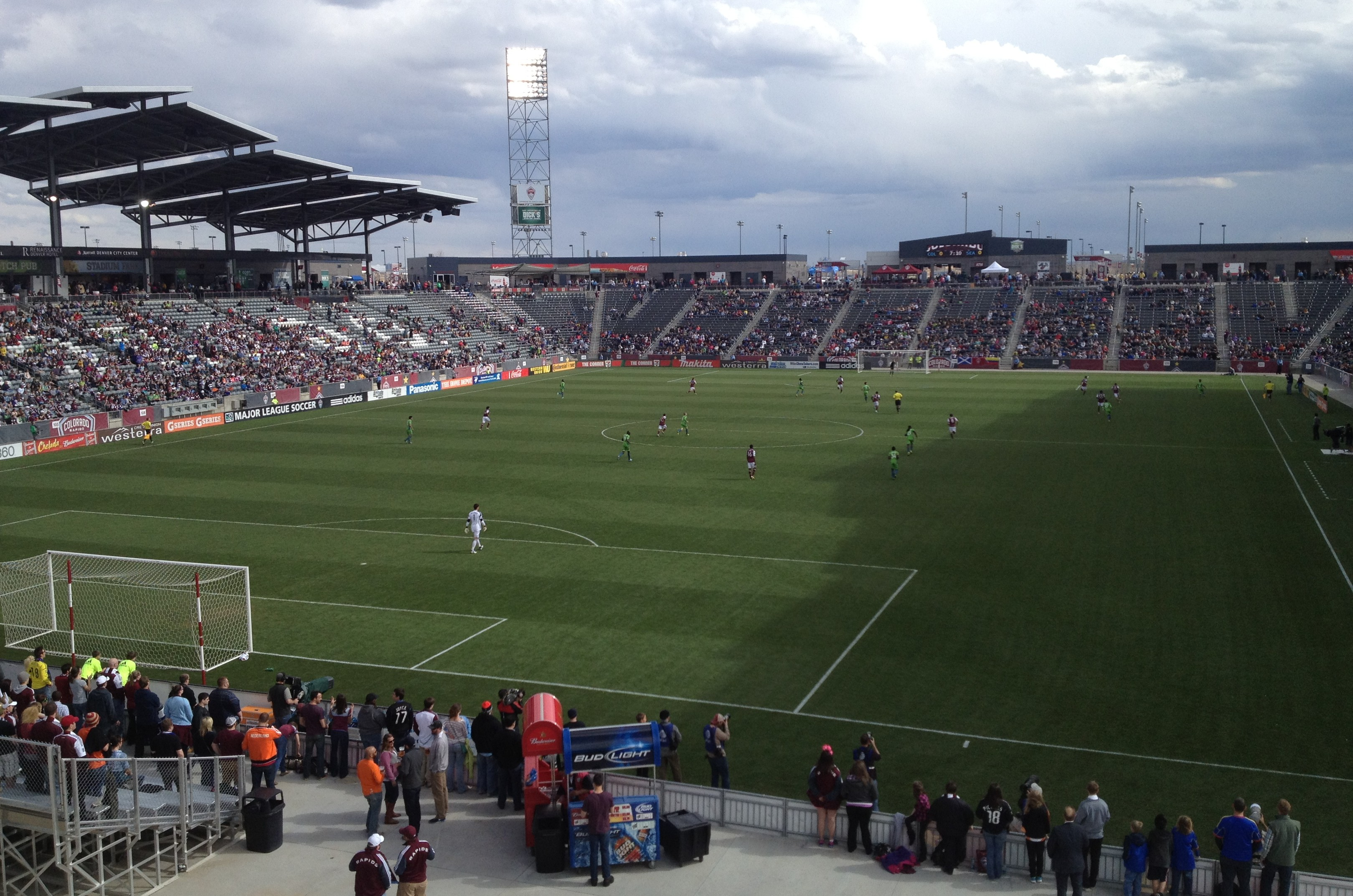 The Rapids announced a crowd of 12,063, many of whom apparently were at the concessions stands at Dick's Sporting Goods Park. / Andy Boyer photo