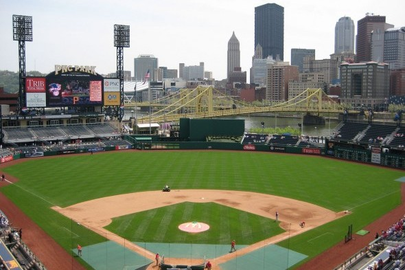 The Mariners open a two-game series with the Pittsburgh Pirates at PNP Ballpark Tuesday. / Wiki Commons
