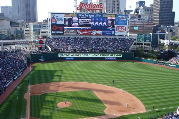The Mariners will spend the next four days at Cleveland's Progressive Field facing an Indians squad that has been battling Detroit for the AL Central lead. / Wiki Commons