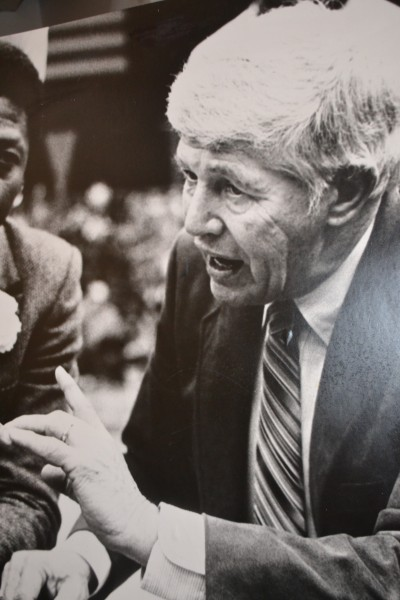 Marv Harshman coached for 40 years in the state of Washington, including 13 years at Pacific Lutheran, 13 years at Washington State an 14 years at the University of Washington. / Steve Rudman, Sportspress Northwest