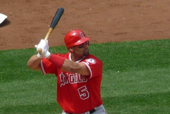Albert Pujols has struggled during his second season with the Angels after signing a $240 million contract in 2012. / Wiki Commons