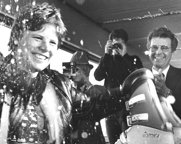 Alpine skier Debbie Armstrong won the 1984 Olympic gold medal in the downhill, but stood little chance of winning a Star of the Year award against male professionals. / DR Collection