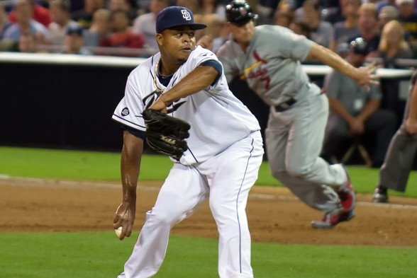 The Mariners will get a look at San Diego's Edinson Volquez Monday when they face the Padres in the first of two games. / Wiki Commons