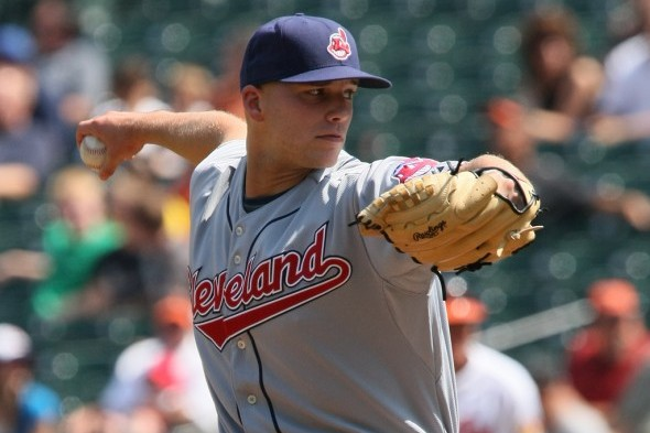 Justin Masterson will be going for his seventh win Sunday when the Cleveland Indians host the Mariners in the third game of a three-game series. / Wiki Commons