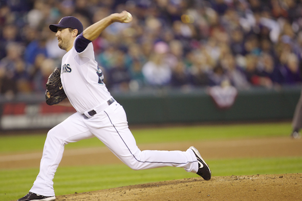 Lefty Joe Saunders will pitch for the Mariners Monday when they return to Safeco Field to host the Chicago White Sox. / Drew Sellers, Sportspress Northwest