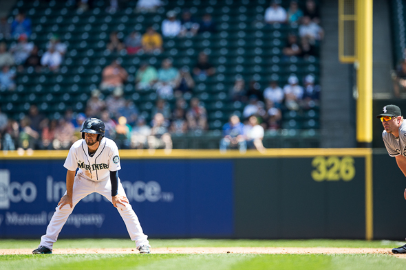 Nick Franklin and the Mariners ended a 10-game home stand Wednesday and will begin a three-game series with the Oakland A's at O.com Stadium Friday. / Drew Sellers, Sportspress Northwest