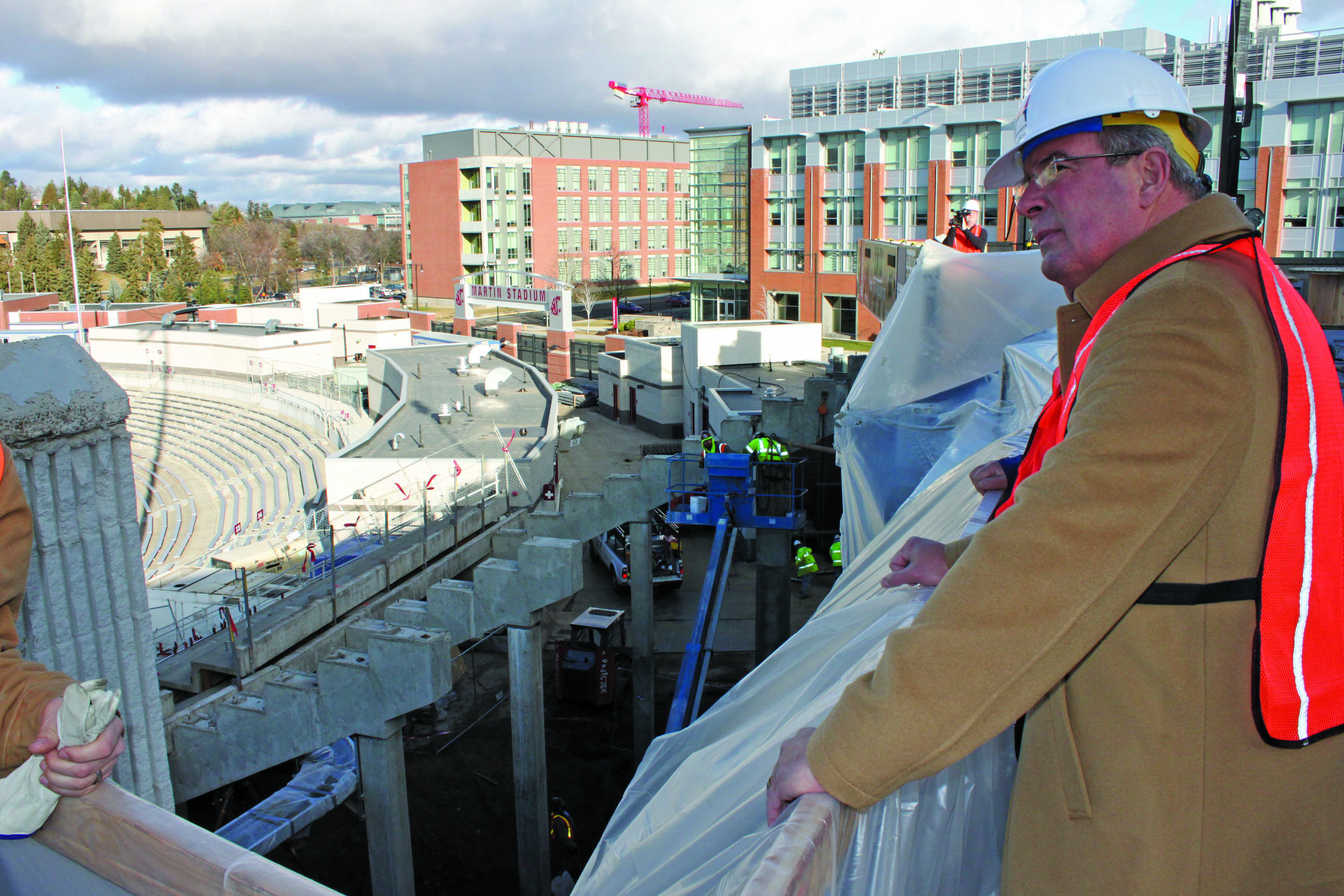 Cougars AD Bill Moos has over seen the updating of Martin Stadium. / Washington State University Athletics