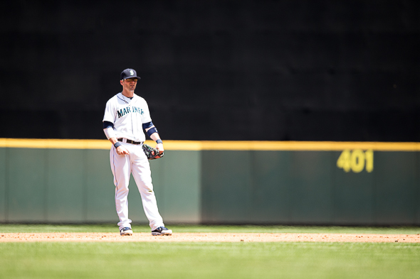 Given the injuries and faltering performers, SS Brendan Ryan is suddenly among the Mariners more consistent hitters. / Drew McKenzie, Sportspress Northwest