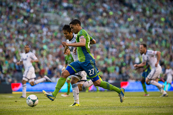 Lamar Neagle may have played his last game as a Sounder, according to rumors. / Drew McKenzie, Sportspress Northwest