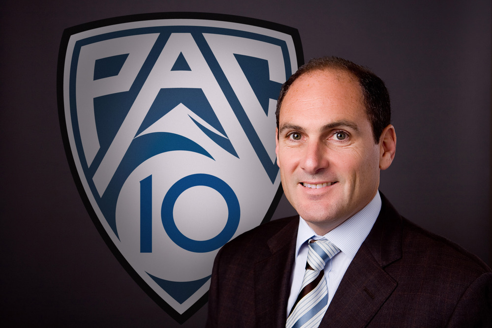 Commissioner Larry Scott thinks. / Pac-12 Conference