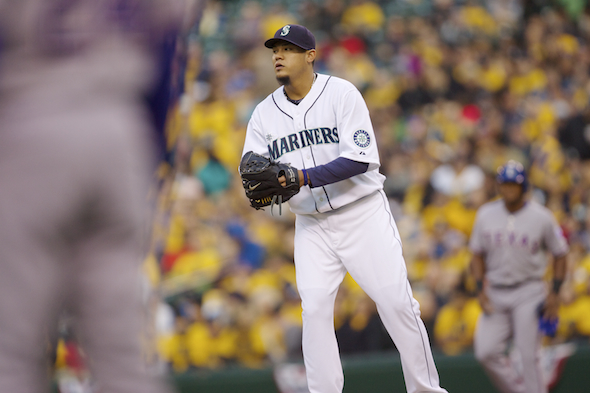 Felix Hernandez, coming off sub-par outing, will go for his 12th victory of the season Sunday when the Mariners lose out the Milwaukee series. / Drew Sellers, Sportspress Northwest