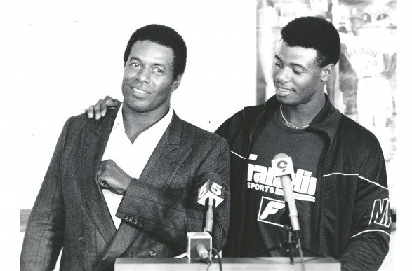 "Griffey Jr. signed with the Mariners for a reported $175,000, prompting scouting director Roger Jongwaard to say, ""We've never paid that much for a player."" / David Eskenazi Collection"