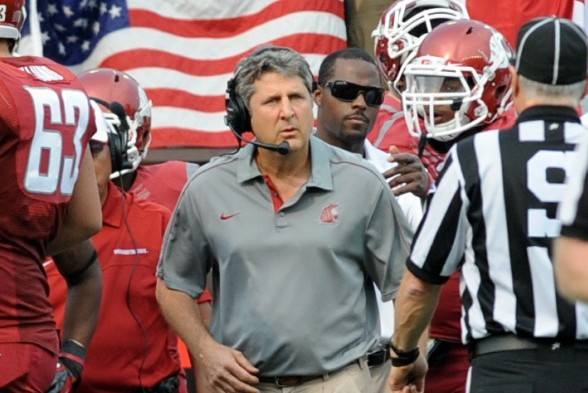 Mike Leach helped Washington State win it's first bowl game since 2003. / Wiki Commons