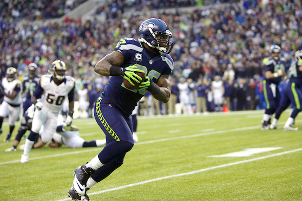 Pro Bowl fullback Michael Robinson was cut by the Seahawks Friday. / Drew Sellers, Sportspress Northwest