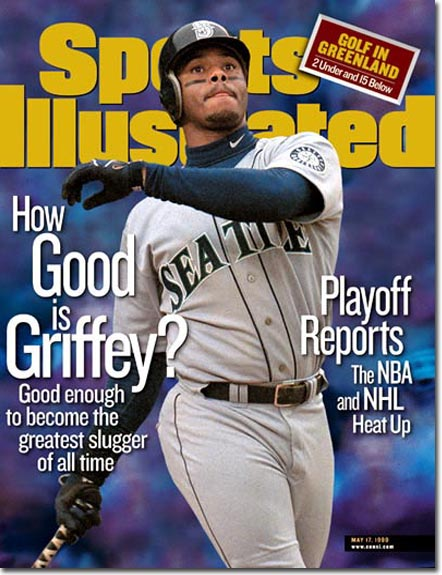 8863bd2af3 Griffey was well ahead of Hank Aaron's career home run pace until a series  of injuries derailed his bid. / Sports Illustrated