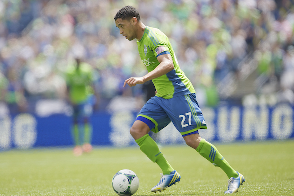 Forward Lamar Neagle is one of the few healthy Sounders as they enter the final two regular season games / Drew Sellers, Sportspress Northwest