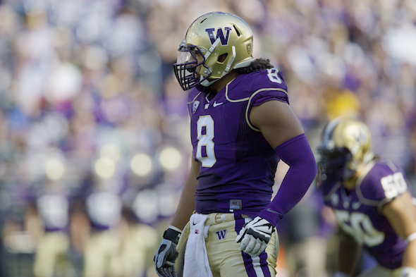 The Huskies defense, aided by two missed Bengals field goals, recorded their first shut-out since beating WSU 30-0 in the 2009 Apple Cup. / Drew Sellers, Sportspress Northwest