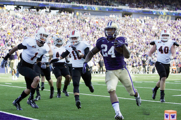 Callier was actually the UW starting tailback before tearing his ACL in the 2012 season opener against San Diego State. / Drew Sellers, Sportspress Northwest