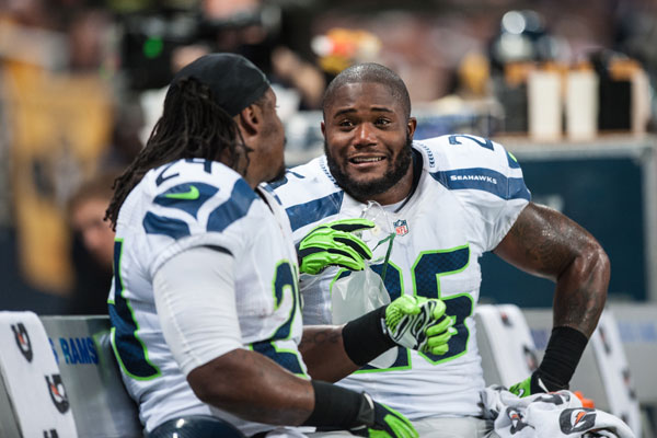Re-signed Tuesday by the Seahawks, fullback Michael Robinson made the Pro Bowl in 2011 blocking for teammate Marshawn Lynch. / Seahawks.com