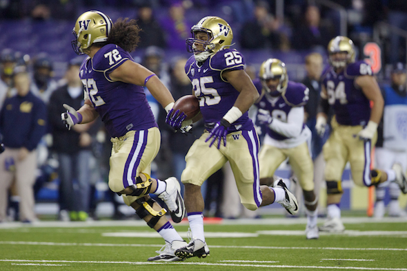 Bishop Sankey scored a 59-yard touchdown late in the first half to put Cal away. / Drew Sellers