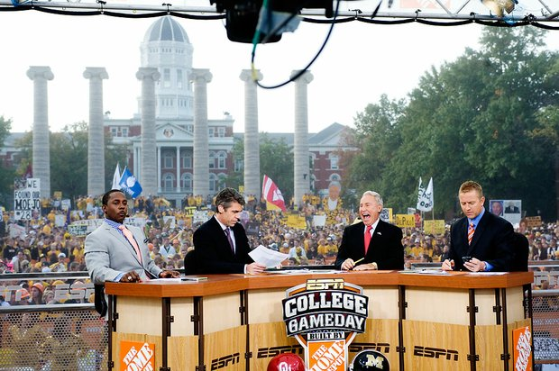 The ESPN College Gameday show in 19 years rose from irrelevant to wildly popular. / Wikicommons
