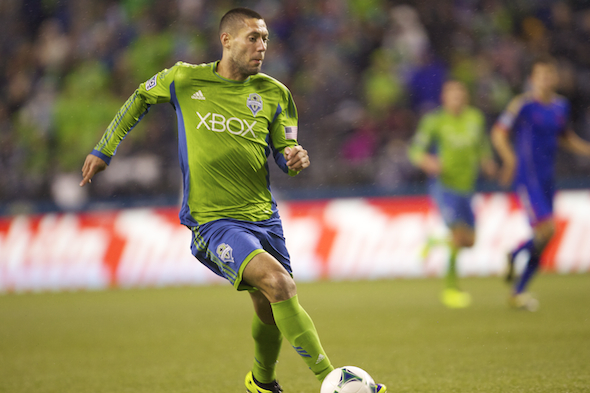 Clint Dempsey had an assist on Eddie Johnson's clinching goal. / Drew Sellers, Sportspress Northwest