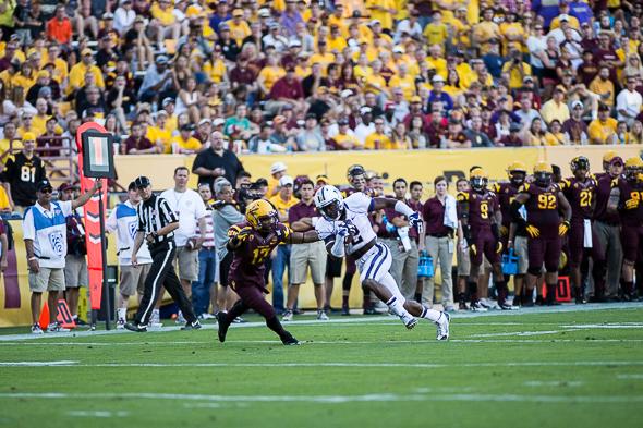 The Skyline High School (Sammamish) graduate has 28 catches for 400 yards and a touchdown. / Drew McKenzie