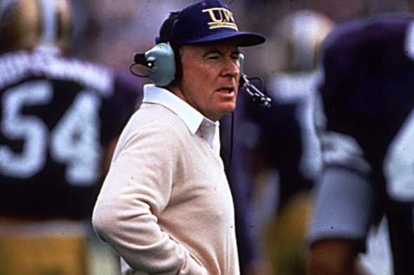Former University of Washington football coach Don James took the Huskies to 15 bowl games in 18 seasons, winning 10. / David Eskenazi Collection