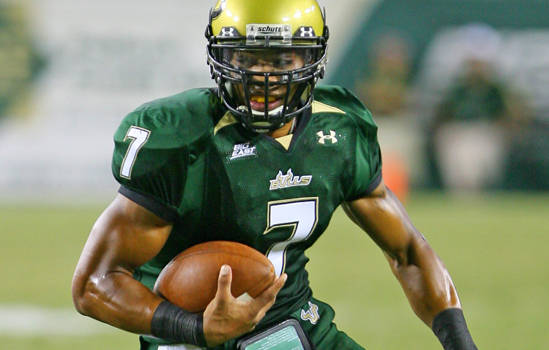At University of South Florida, new Seahawk B.J. Daniels started four years and threw for 8,436 yards 52 touchdowns and 39 interceptions. / Courtesy of USF