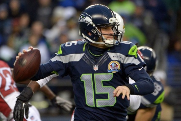 Matt Flynn would have been the Seahawks quarterback, now and for the forseeable future, if Russell Wilson hadn't knocked him out in training camp in 2012. / Seattle Seahawks photo