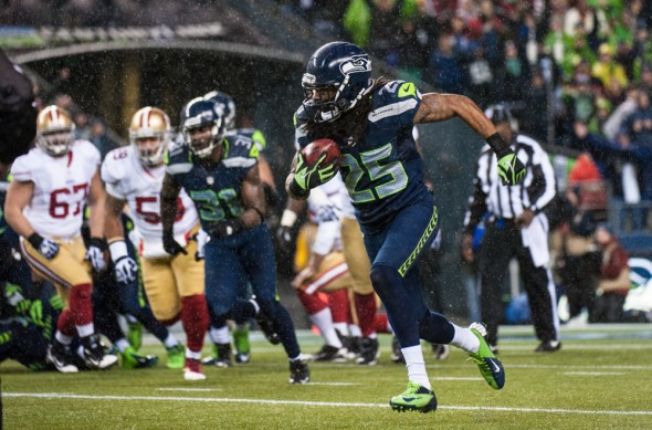 Cornerback Richard Sherman (25) was named an AP All-Pro for the second straight year. / Drew Sellers, Sportspress Northwest