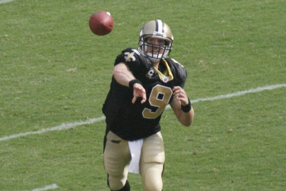 Drew Brees will lead the Saints into CenturyLink Field Monday night to face the Seahawks. Seattle and New Orleans are the NFC's top two seeds. / Wiki Commons