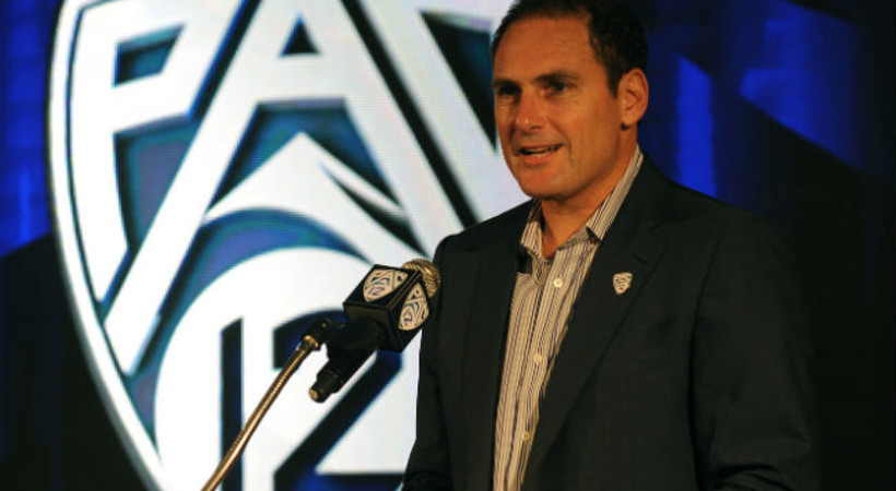 Pac-12 commissioner Larry Scott spoke in Pullman hours before the Cougars got whipped on ESPN. / Wiki Commons