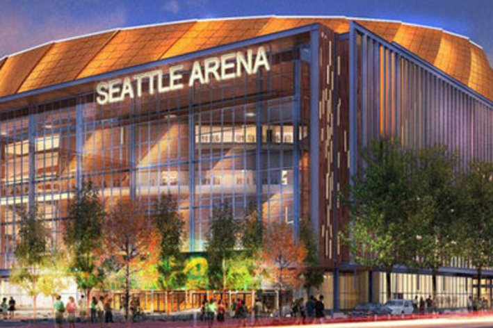 Chris Hansen's proposed arena in SoDo is drawing renewed fire from  a new opposition group, Sonics Without Subsidies. / 360 Architects