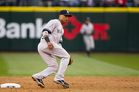 Robinson Cano has put up Hall of Fame numbers during his first nine major league seasons, all with the New York Yankees. / Drew McKenzie, Sportspress Northwest