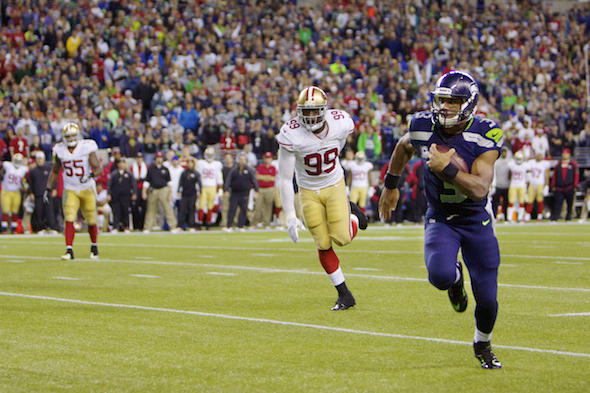 Russell Wilson made his second consecutive Rose Bowl. / Drew Sellers, Sportspress Northwest