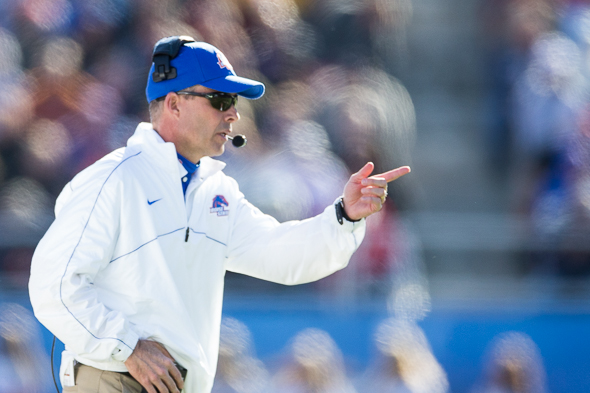Chris Petersen has nearly completed filling his coaching staff, the school announced Monday. / Drew McKenzie, Sportspress Northwest