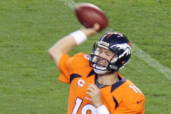 Peyton Manning's Denver Broncos scored an average of 37.9 points per game during the regular season and will be the highest-scoring team ever to reach the Super Bowl. / Wiki Commons