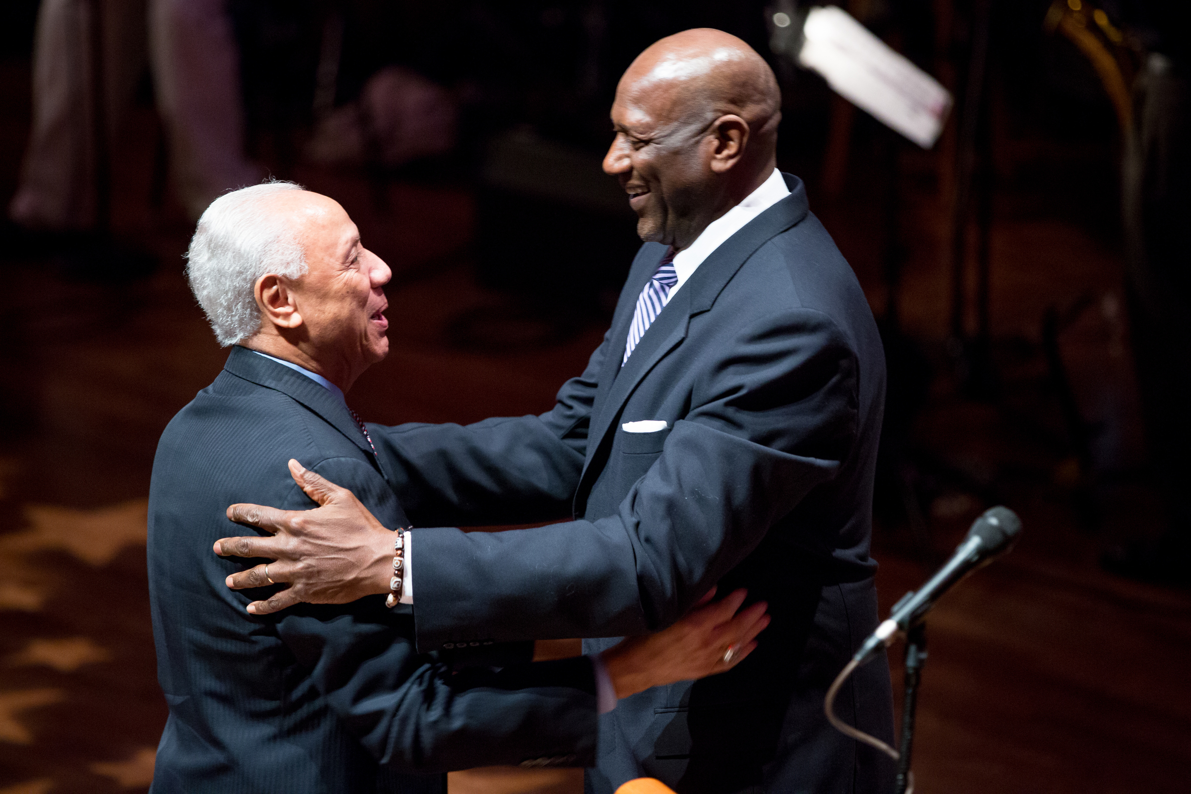Last year's Sports Star of the Year event at Benaroya Hall brought together Sonics legends Lenny Wilkens and Spencer Haywood. / Scott Eklund, Red Box Pictures