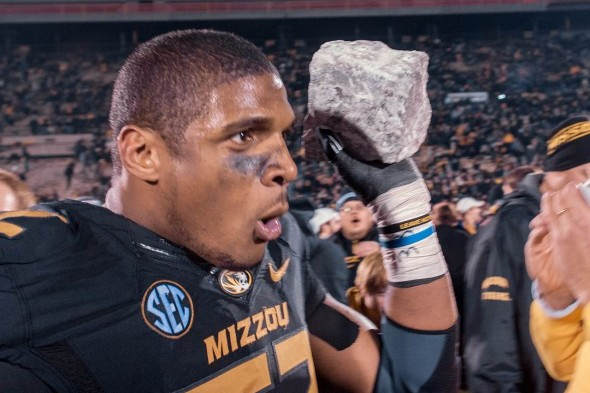Missourt's Michael Sam puts every NFL team on the spot. /  Wiki Commons