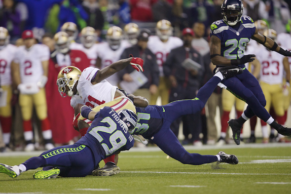 The Seahawks pass defense is rated fourth-best since 1950. / Drew Sellers, Sportspress Northwest