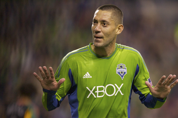 Clint Dempsey had a rugged adjustment in his return to MLS last season, but the Sounders have invested heavily with the hope that Dempsey can lead them to he MLS Cup. / Drrew Sellers, Sportspress Northwest