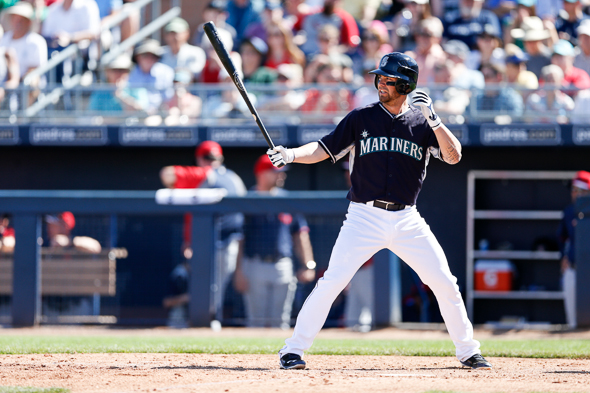 Even though his batting average fell about .40 points during the last month of the season, Franklin posted a 2.3 WAR in 2013. / Drew McKenzie, Sportspress Northwest