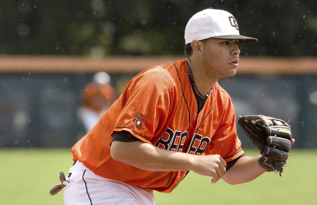 Outfielder Stefen Romero, who played last season in Tacoma, has all but locked up a roster spot with the Mariners. / Courtesy of Oregon State University